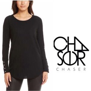 Chaser Tunic Top Black Ladies Size Small